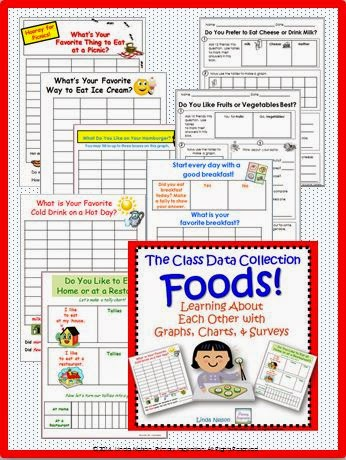 http://www.teacherspayteachers.com/Product/Class-Data-Tallies-and-Graphs-About-Food-148809