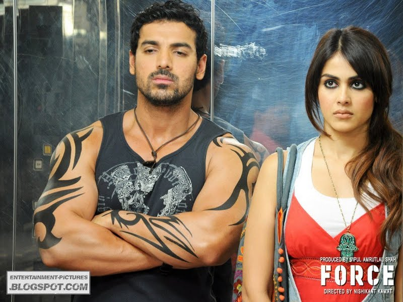 John Abraham AND genelia d souza in FORCE Movie HD WALLPAPER ...