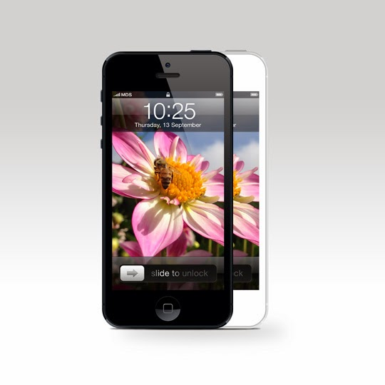 iPhone 5 Front View PSD