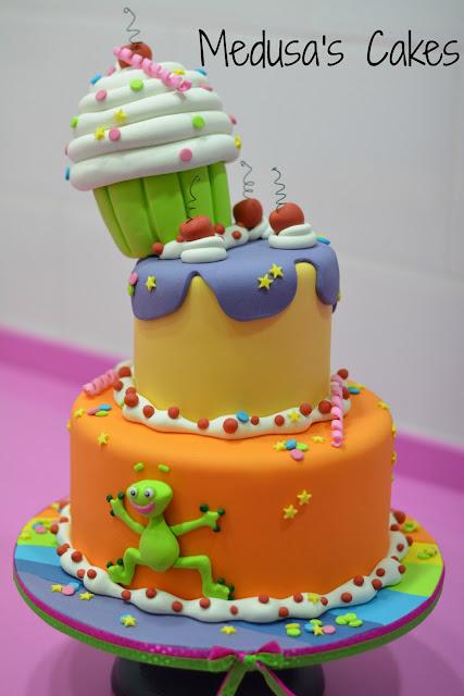 tarta decorada fondant dulces