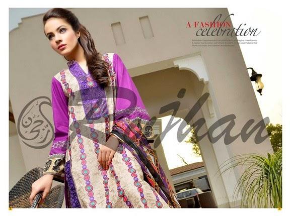 FestivanaEidCollectionByRujhanFabrics wwwfashionhuntworldblogspot 13  - Festivana Eid Collection 2014-2015 By Rujhan Fabrics