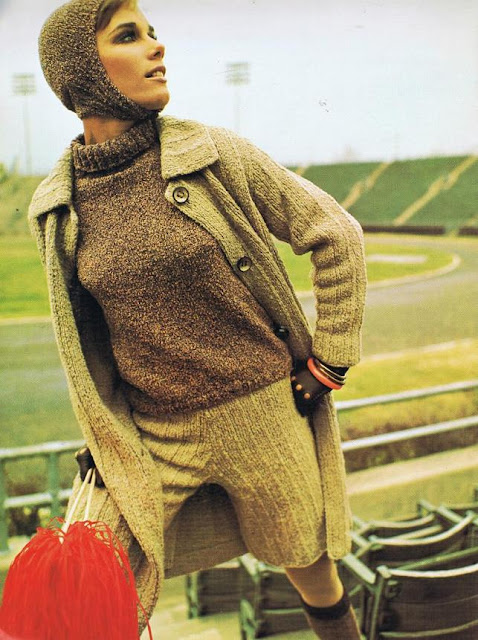 1960's Knitting Pattern free on the Vintage pattern files