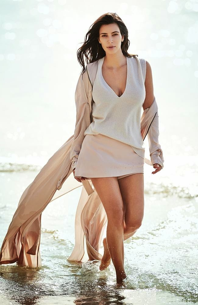 Kim Kardashian wears minimalistic looks for Vogue Australia February 2015
