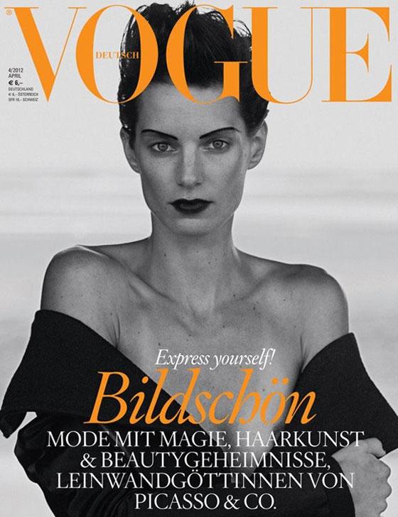 Iris Strubegger para Vogue Alemania abril 2012