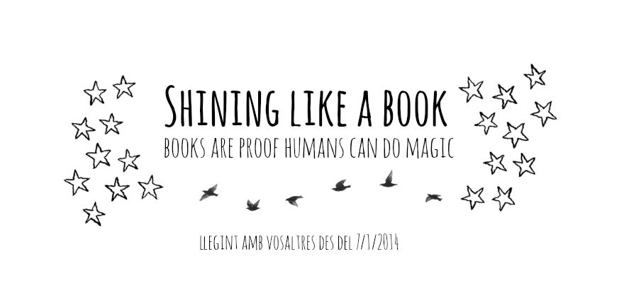 Shining like a book
