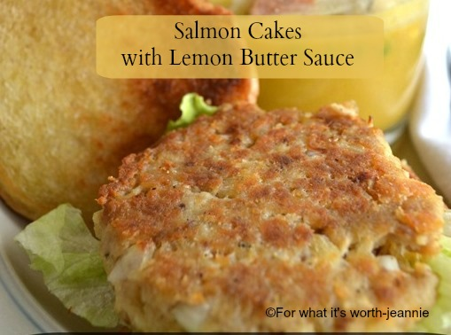 salmon cakes with lemon butter
