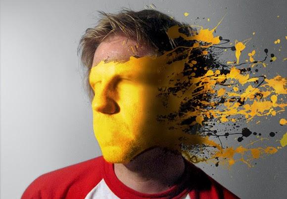 Mold Paint Splatter to a Face