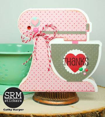 SRM Stickers Blog - Thank You Gift Set by Cathy - #cards #cardset #kraft #windowbox #doilies #twine #stickers #borders #giftset #DIY