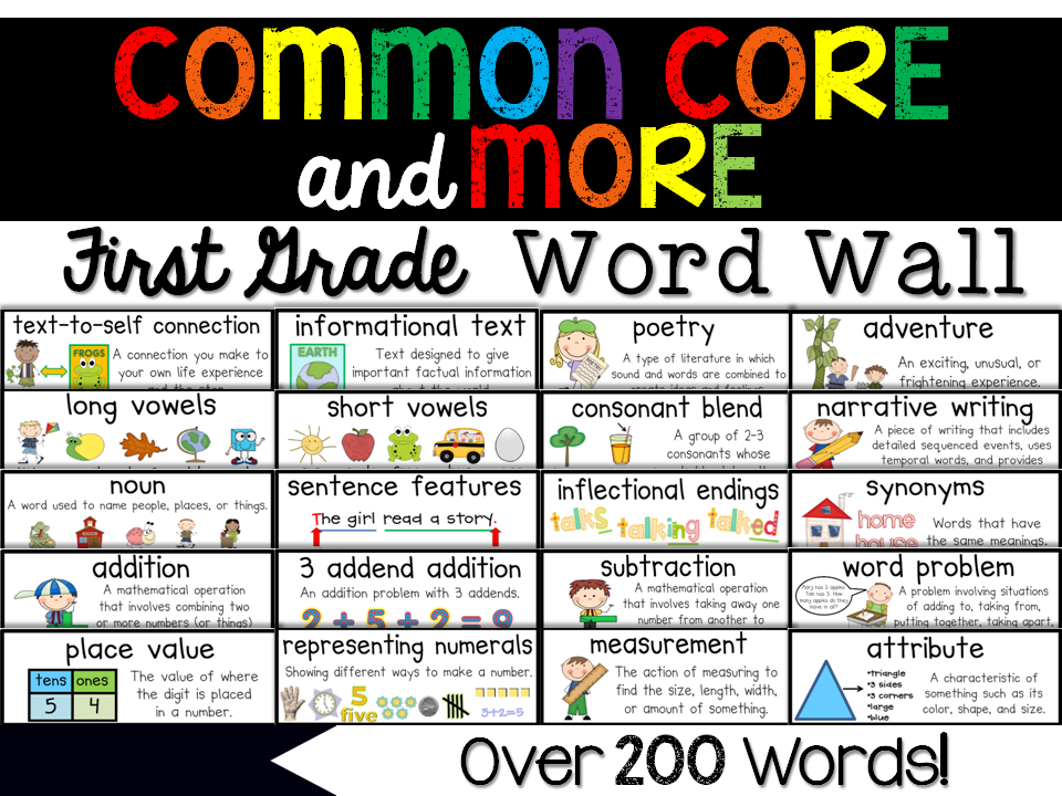http://www.teacherspayteachers.com/Product/First-Grade-Common-Core-More-Content-Word-Wall-243038