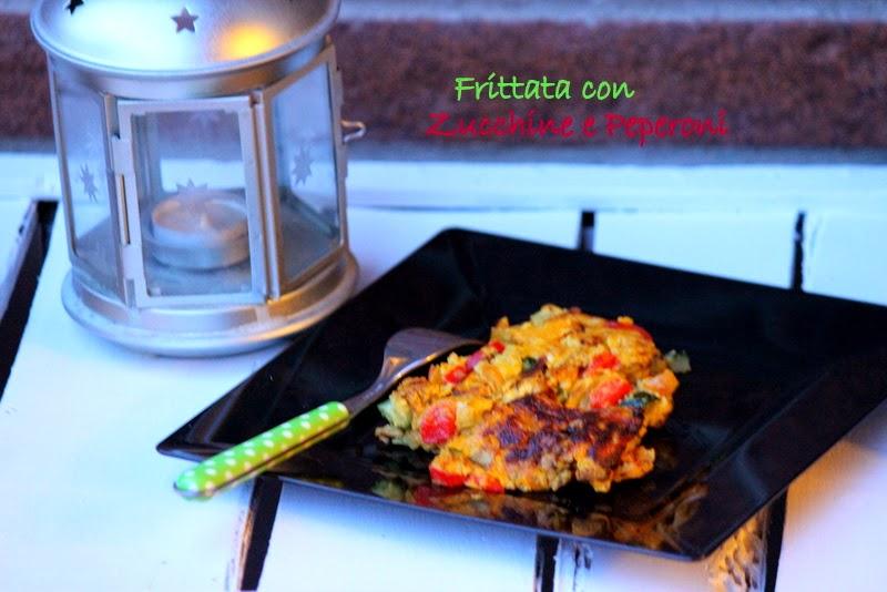 frittata con zucchine e peperoni