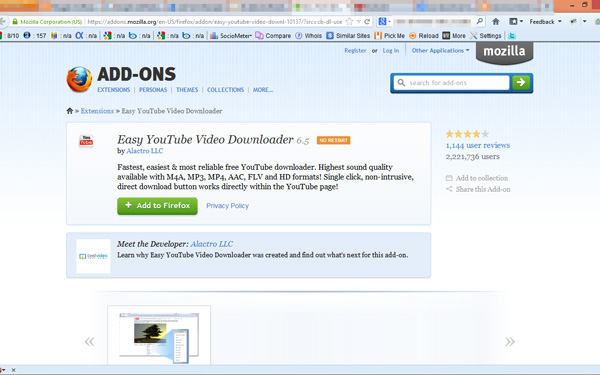 how to add download button in youtube for firefox