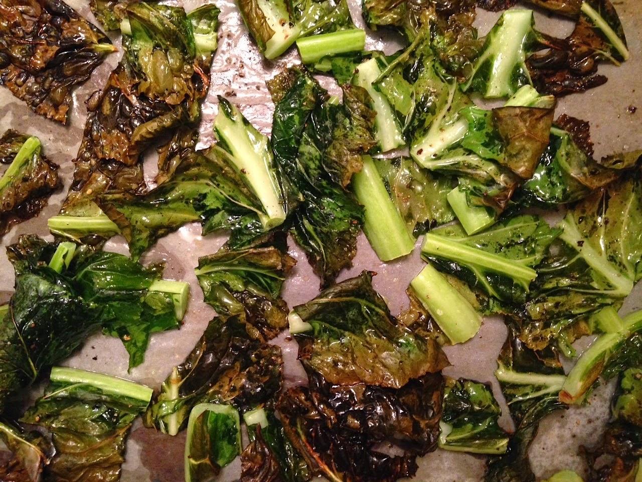 Salt Zest Roasted Cauliflower Leaves