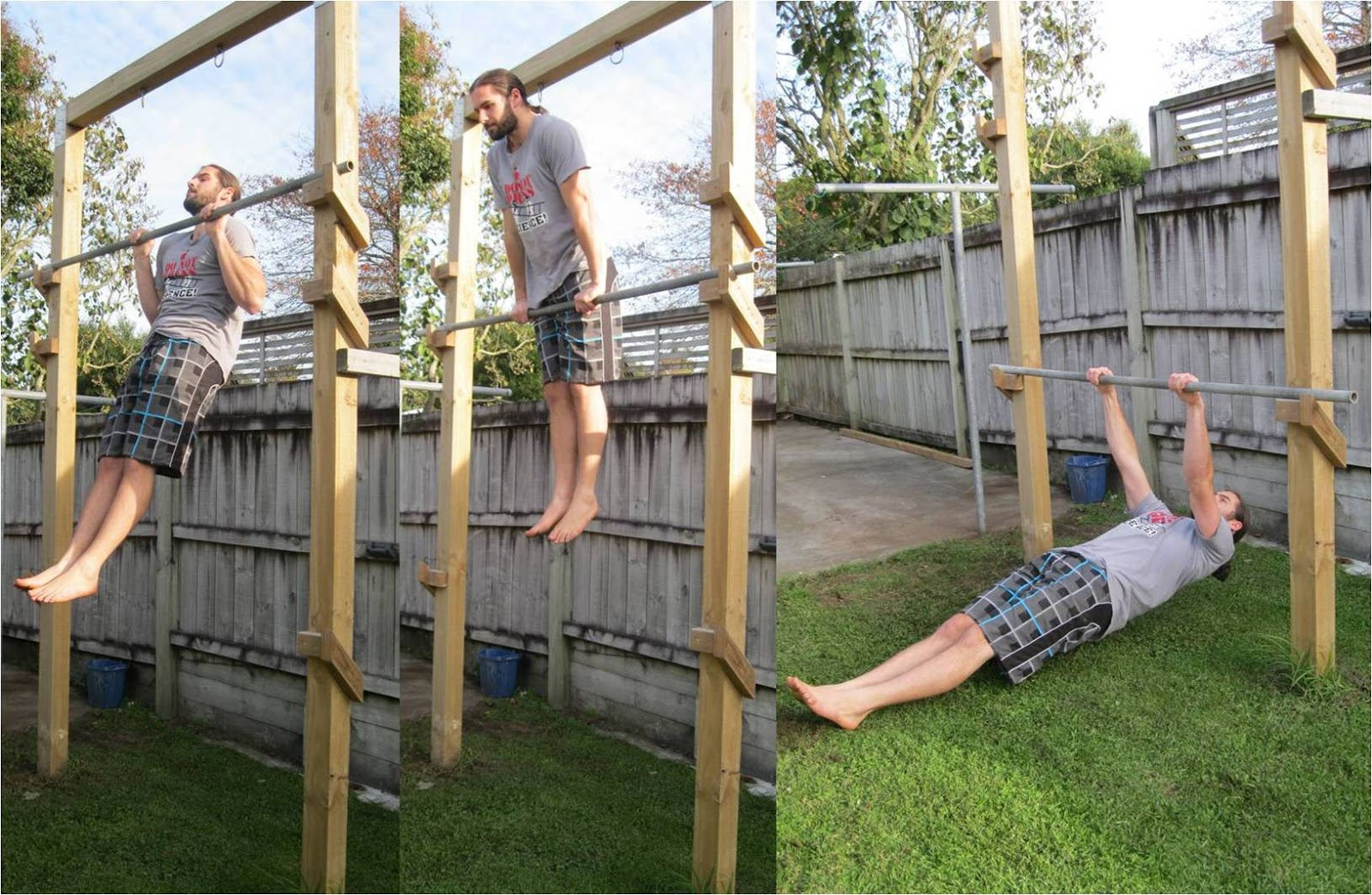 Build A Backyard Pull Up Bar