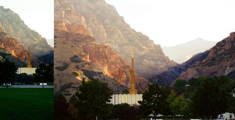Provo Utah Temple, October 1, 1999