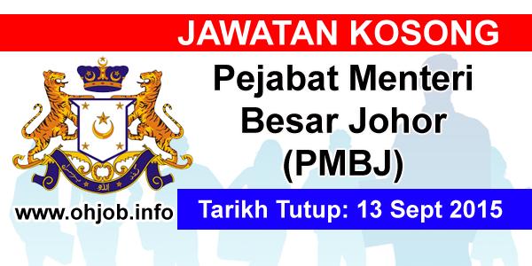 Jawatan Kerja Kosong Pejabat Menteri Besar Johor (PMBJ) logo www.ohjob.info september 2015