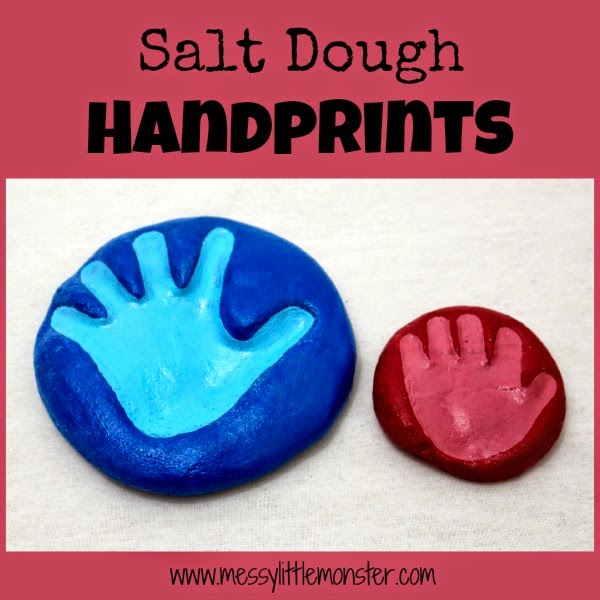http://www.messylittlemonster.com/2014/12/handprint-keepsakes-using-salt-dough.html
