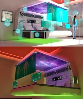 gambar desain kamar tidur futuristik terbaru model desain