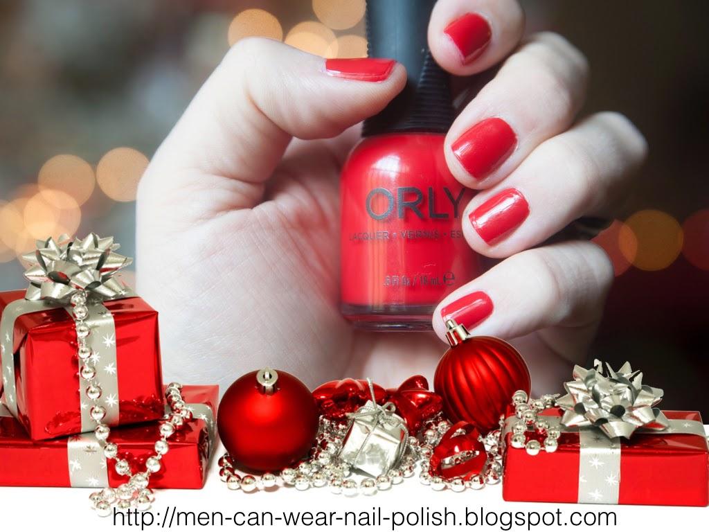 red polish on men