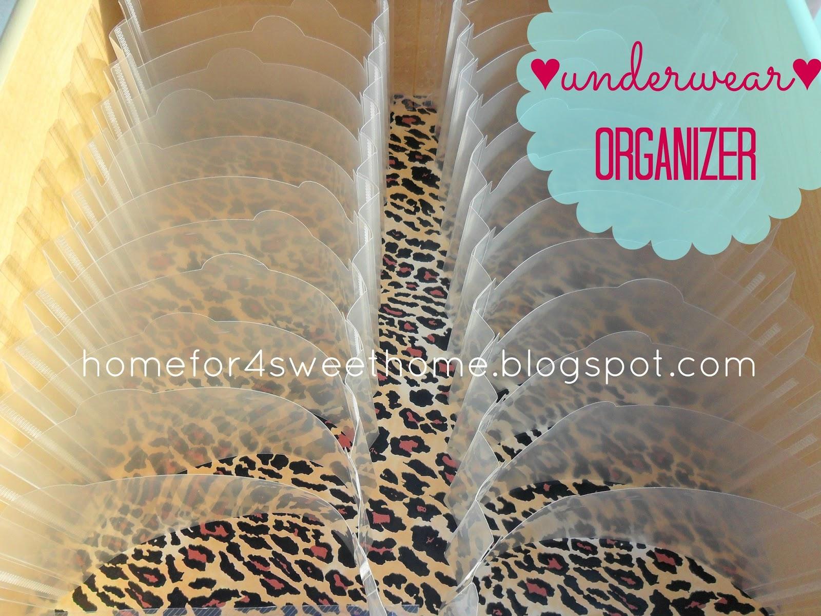 organizing panty, underwear organization