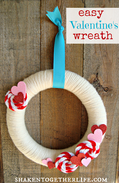 Easy Valentines Wreath