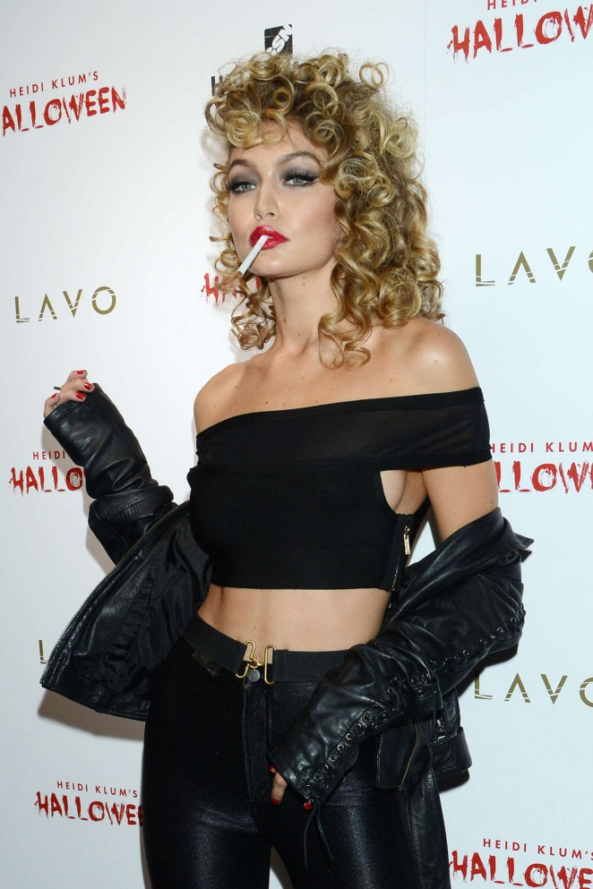 Gigi Hadid – Heidi Klum Halloween Party 2015 in NY