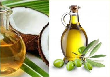 minyak zaitun-minyak kelapa