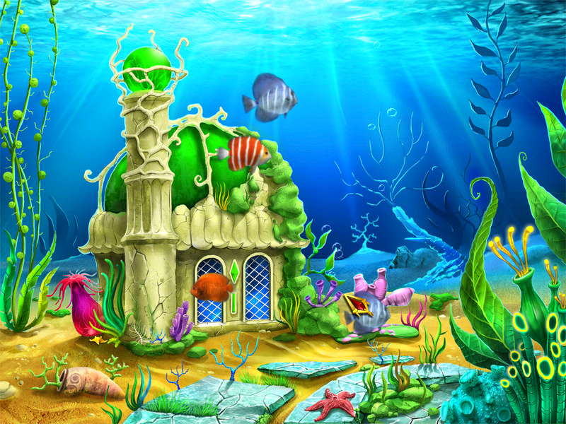 88troolikiol Cartoon Fish Tank Background