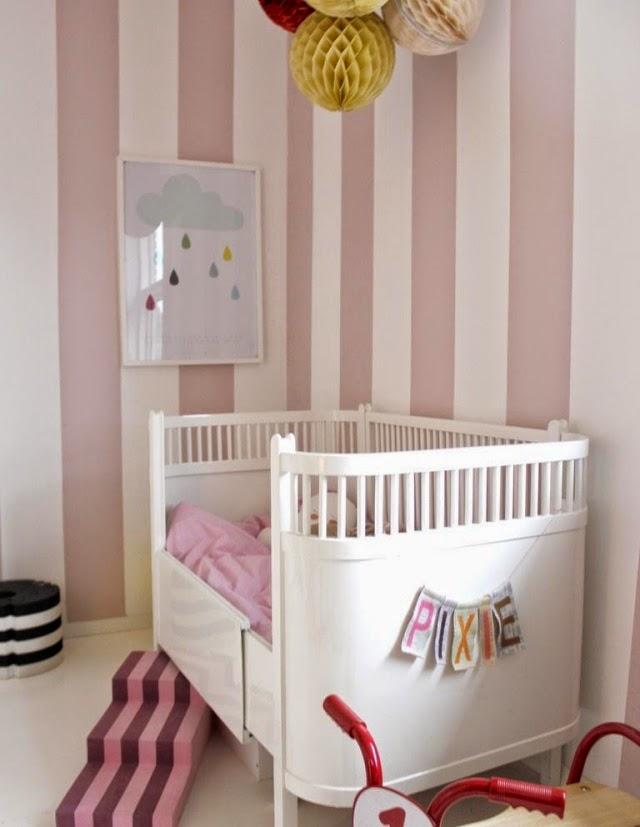 Cuartos de beb color rosa dormitorios colores y estilos - Papel habitacion bebe ...