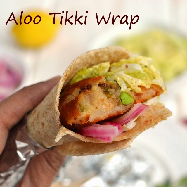 Aloo Tikki Wrap (Potato patty wrap)