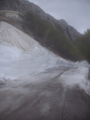 Snow in Montenegro The approach to the Njegos Mausoleum on Thursday 1500 metres above sea level