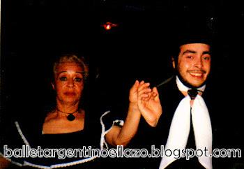 Mirtha Abreu junto a su hijo Mariano Wright
