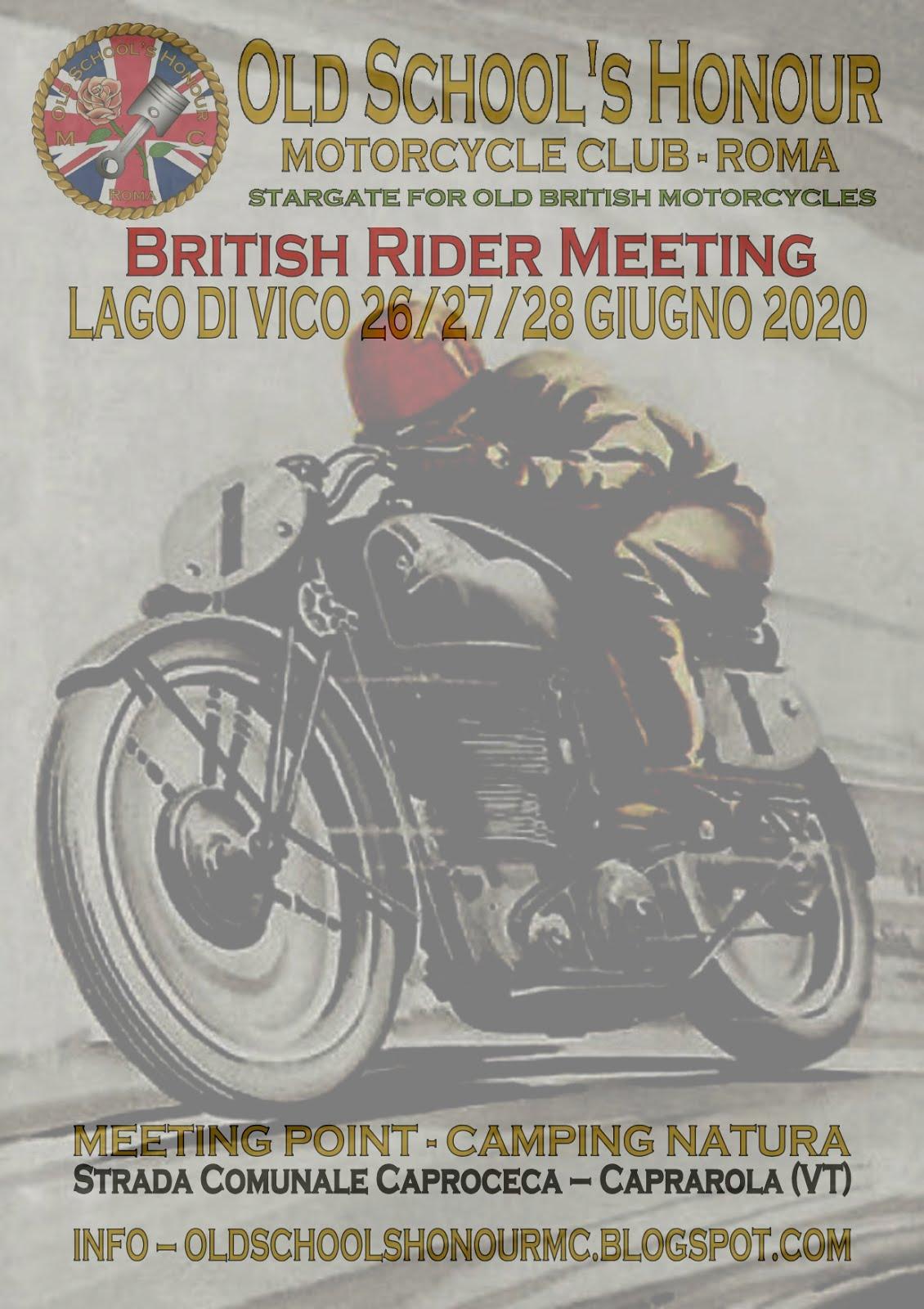 British Rider Meeting 2020 INFO