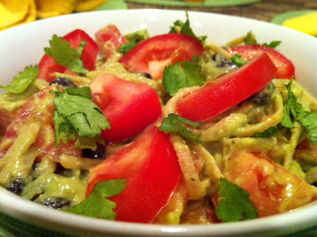 NomEatNom - Mexican Pasta with Creamy Avocado Sauce