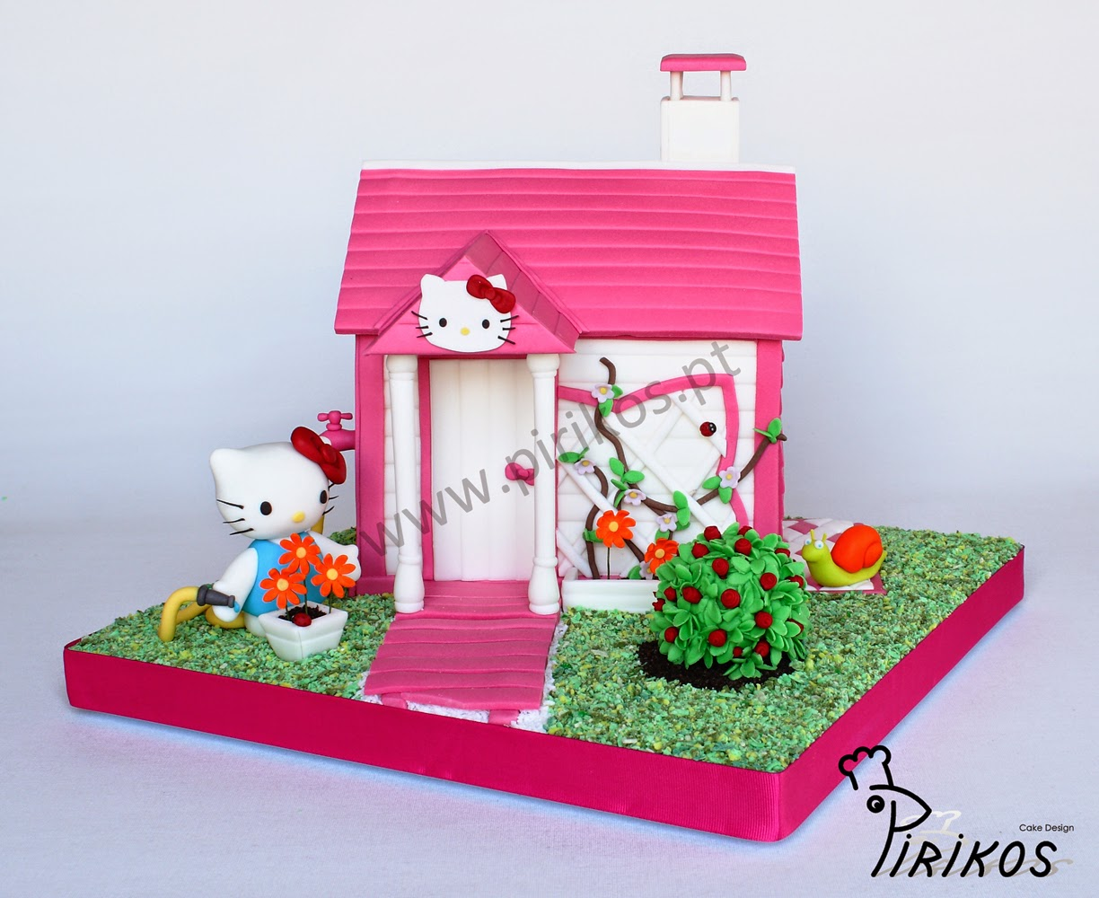 1000 images about hello kitty cakes cupcakes and cookies. Black Bedroom Furniture Sets. Home Design Ideas