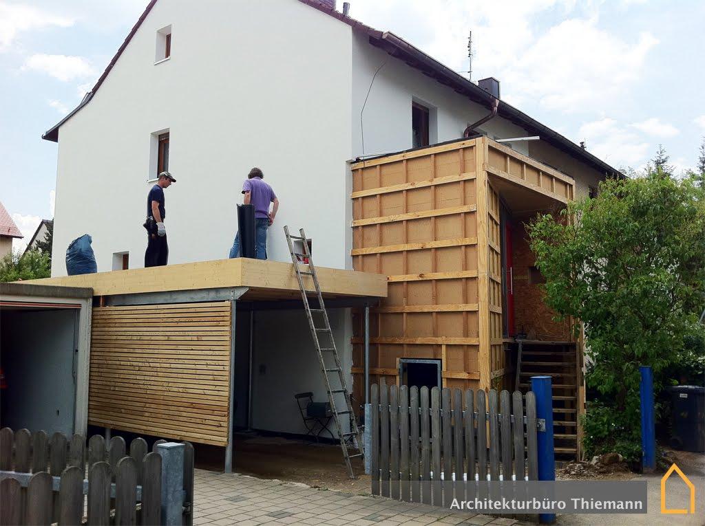 thiemannarchitektur windfangvorbau und carport hersbruck. Black Bedroom Furniture Sets. Home Design Ideas