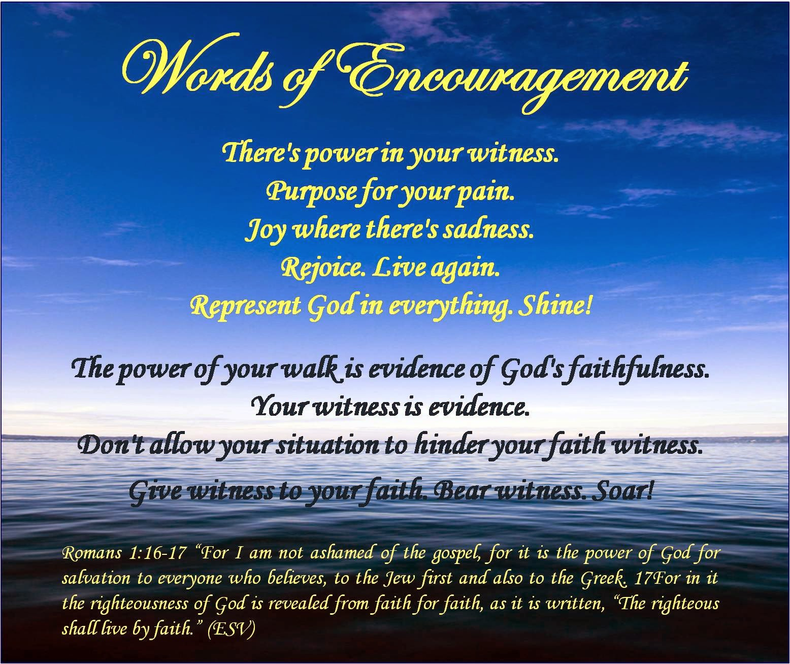 Words of encouragement for saying
