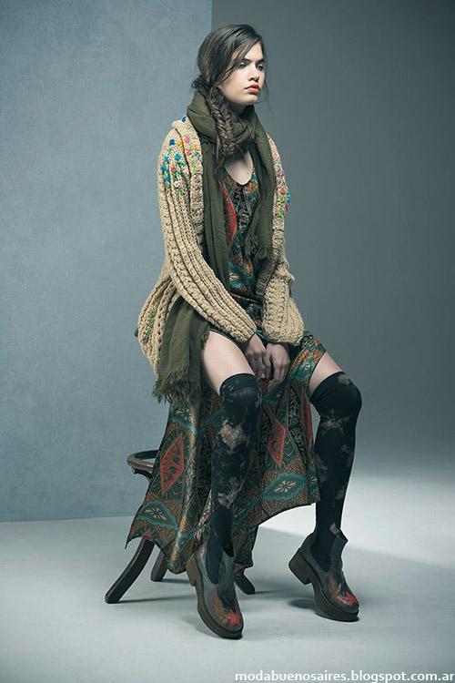 Sacos tejidos invierno 2015 Doll Store moda mujer.