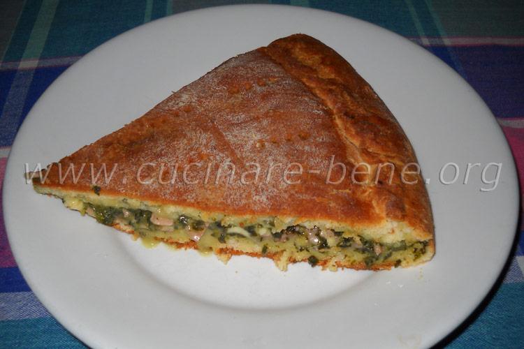 Focaccia ripiena briosciata cucinare bene ricette for Cucinare spinaci