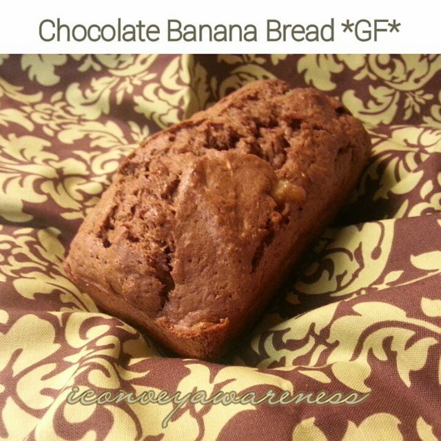 iCA | Chocolate Banana Bread *GF* using a nonGMO mix