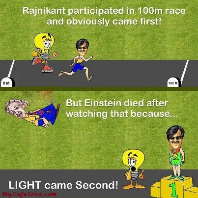 Rajnikant vs Albert Einstein ~ funny image