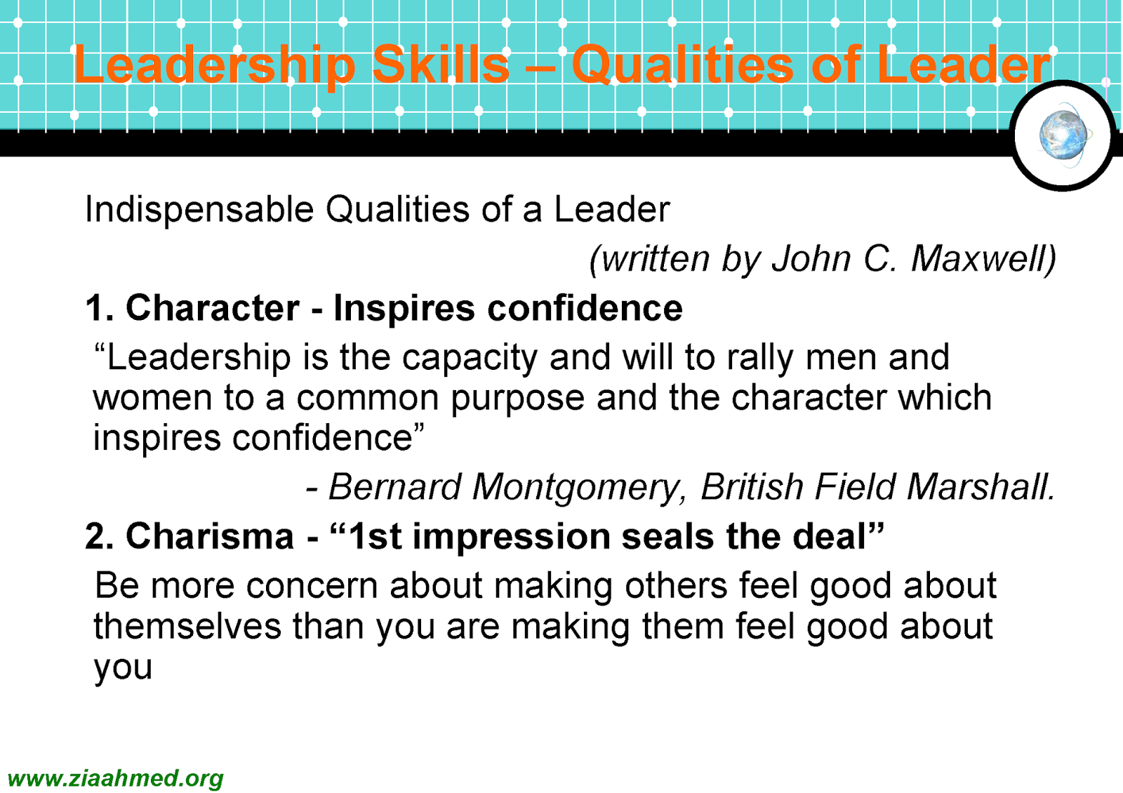 Attributes of Helpful, Revered, and Liked Leader