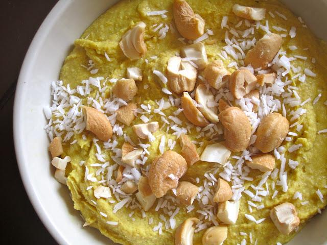 Sketch-Free Eating: Coconut Cashew Curry Hummus (Vegan, GF)