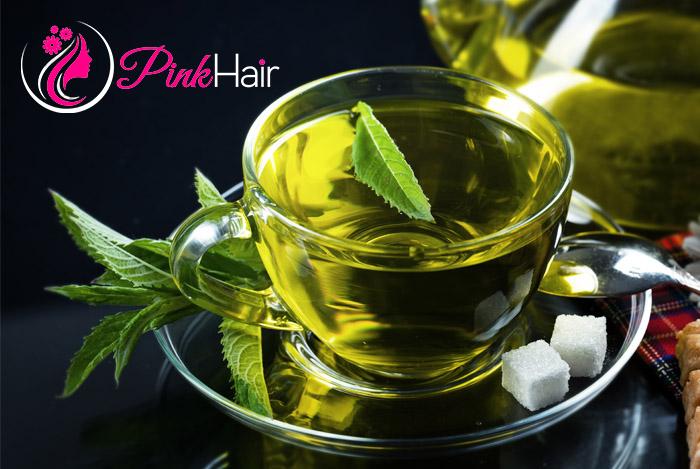 علاج تساقط الشعر بالشاي الأخضر والاعشاب