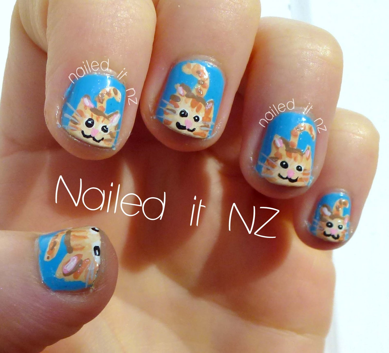 Ginger tabby cat nails!