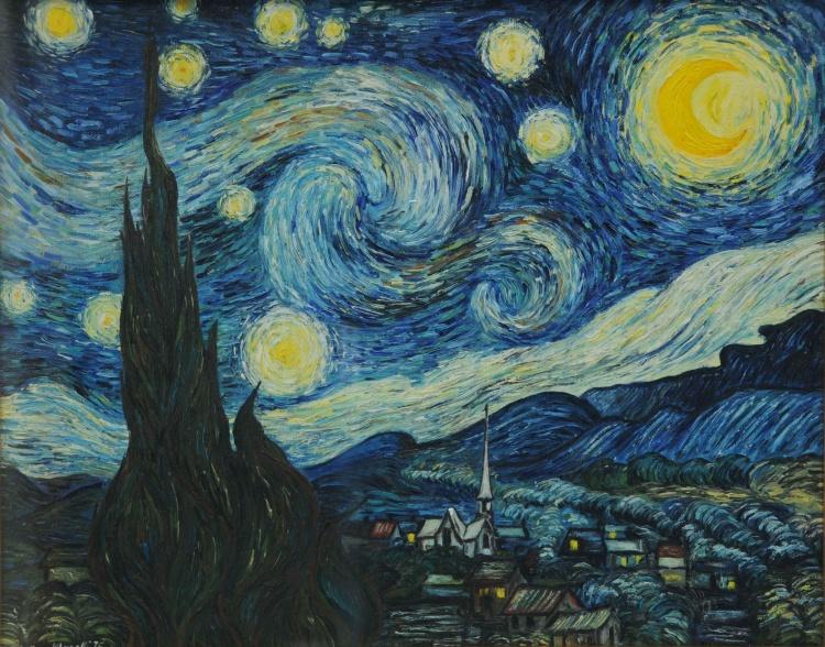 Riflessioni di anna i notturni da alcmane a van gogh for Dipinto di van gogh notte stellata