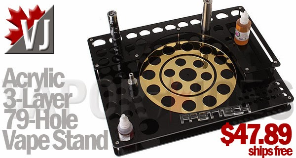 79-Hole Acrylic 3-Layer Mod Stand - Black & Gold