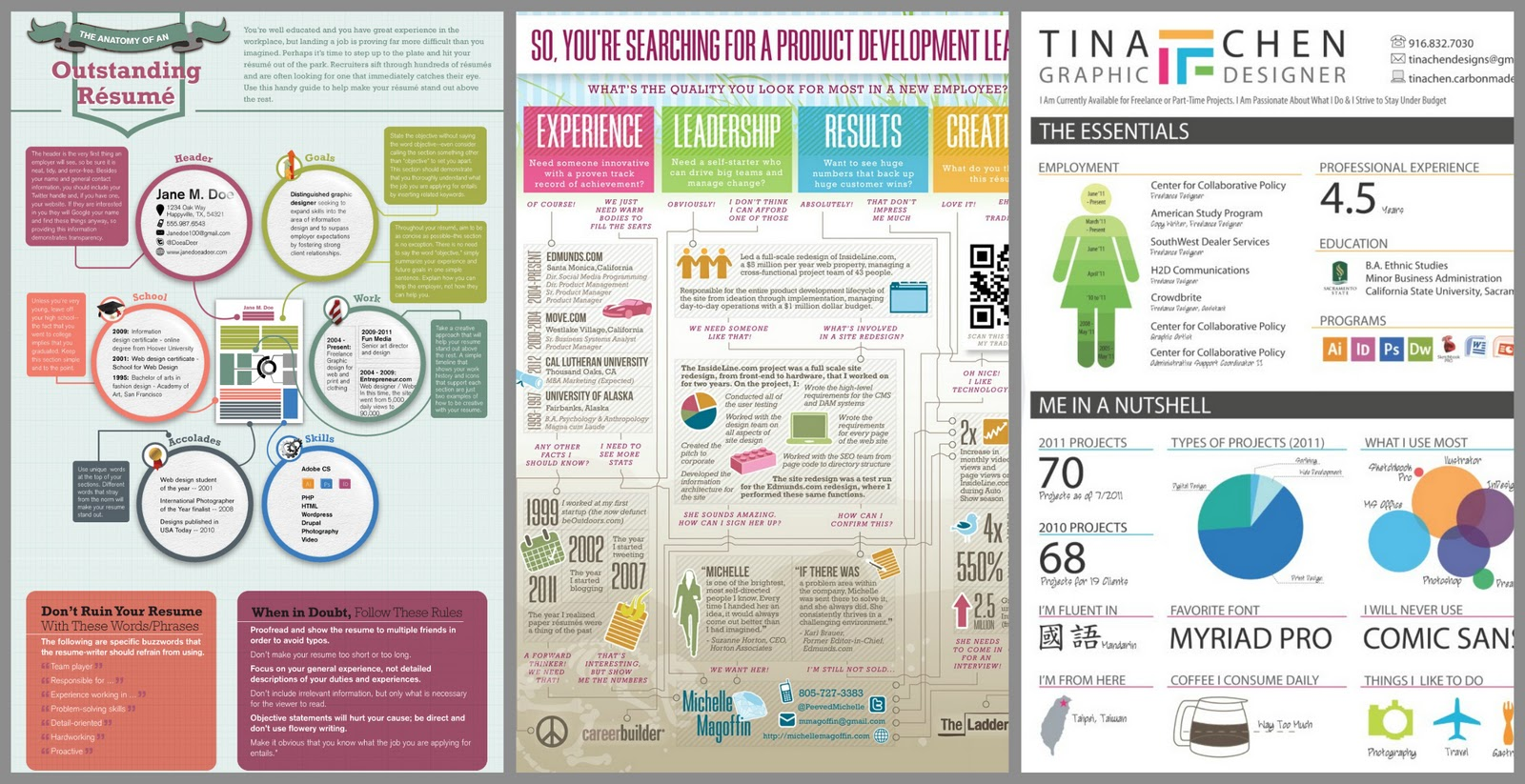 So Much More Appealing To Read Than A Standard, Black U0026 White, Plain Text  Resume  Infographic Resume Creator