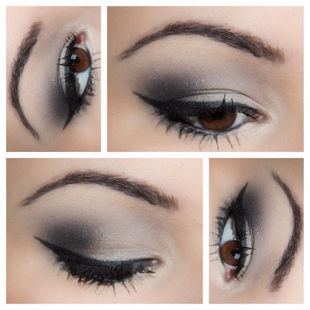 Guest Post Silver Smokey Eye Tutorial Makeup And Macaroons