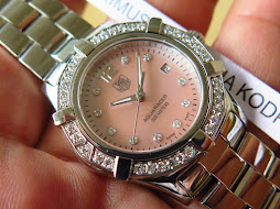 TAG HEUER AQUARACER SOFT PINK MOTHER OF PEARL(MOP) DIAL - DIAMOND INDEX AND BEZEL - LADY WATCH