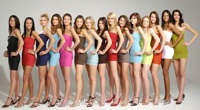 efecto animadora, chicas, belleza